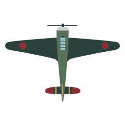Vintage aircraft top view icon
