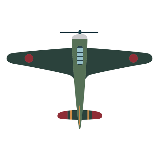 Vintage aircraft top view icon Transparent PNG