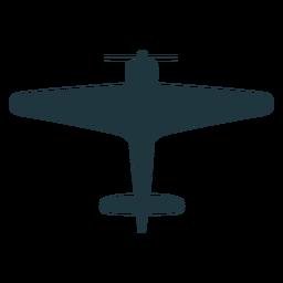 Vintage Flugzeug Draufsicht Silhouette