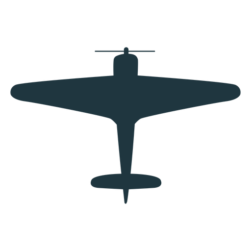 Vintage aircraft top view silhouette