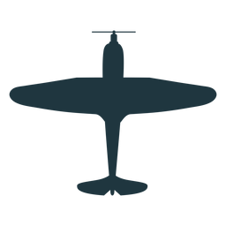Silueta de avión bombardero vintage