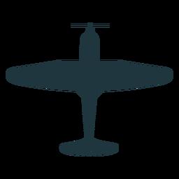 Vintage Bomber Flugzeug Silhouette