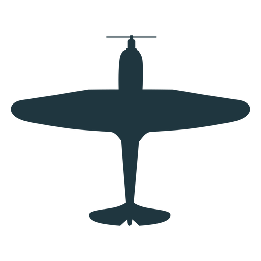 Vintage bomber aircraft silhouette