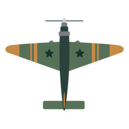 Vintage fighter aircraft icon