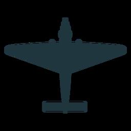 Silueta de avión de combate vintage