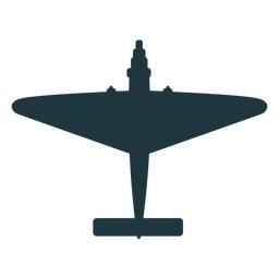 Vintage fighter aircraft silhouette