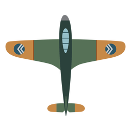 Vintage military aircraft icon