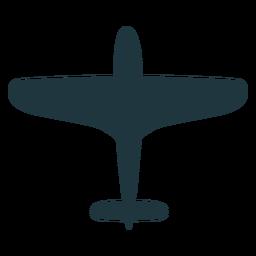 Silueta de avión militar vintage