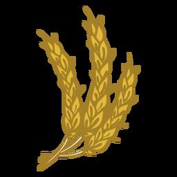 Icono de doodle de trigo