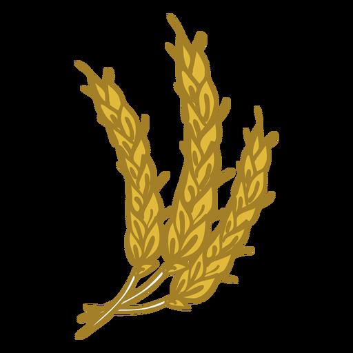 Icono de doodle de trigo Transparent PNG