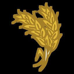 Icono de doodle de espiga de trigo