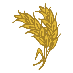 Wheat spike doodle icon