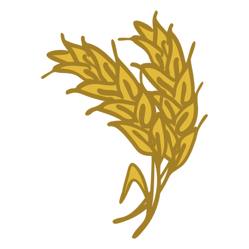 Wheat spike doodle icon Transparent PNG