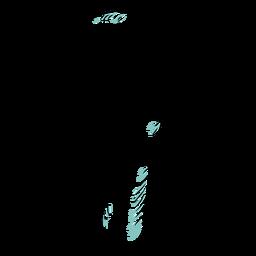 Pente de dente largo desenhado à mão