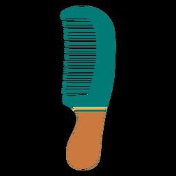 Icono de peine de dientes anchos