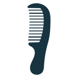 Wide tooth comb silhouette