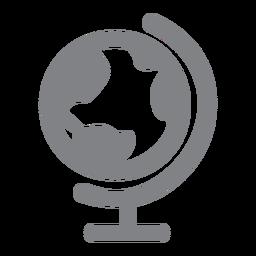 Icono plano del globo del mundo