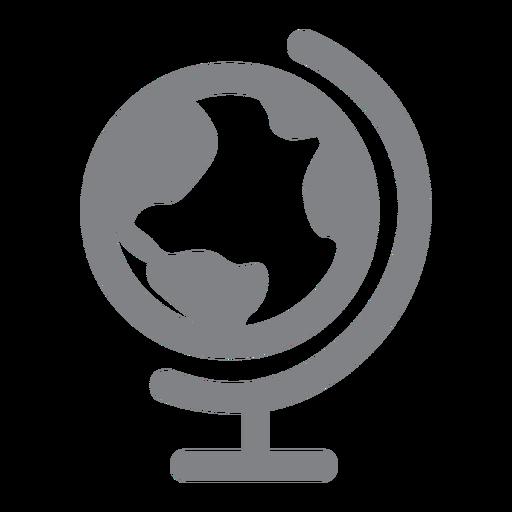 Icono plano del globo del mundo Transparent PNG