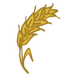 Icono de espiga de trigo amarillo