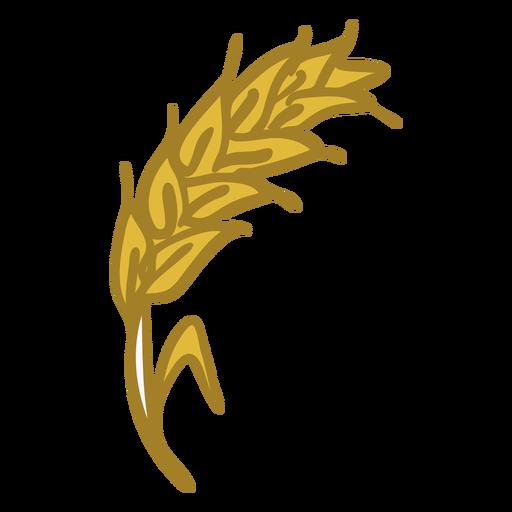 Icono de espiga de trigo amarillo Transparent PNG