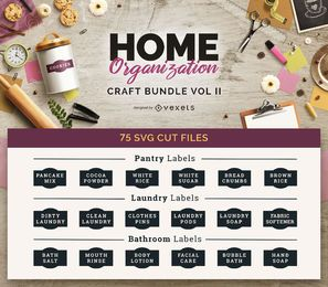 Home Organization Craft Bundle Vol II