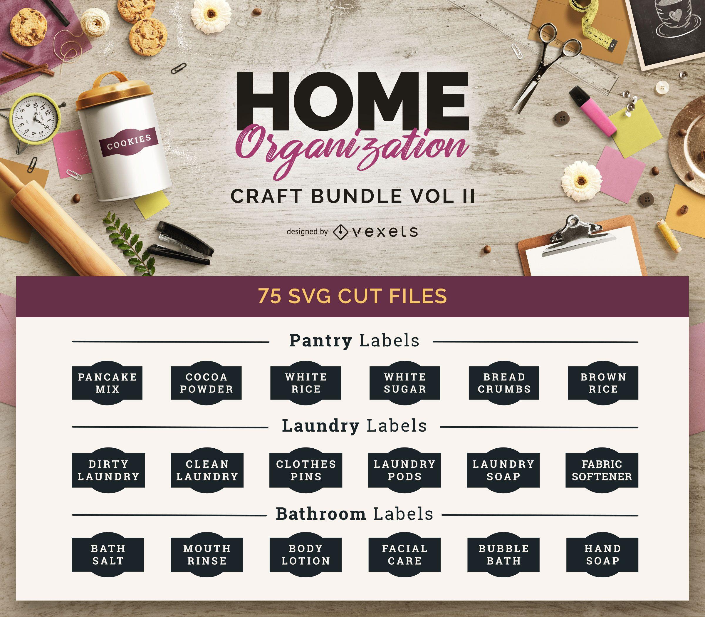 Home Organization Craft Bundle Vol II