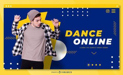 Plantilla de página de aterrizaje en línea de baile