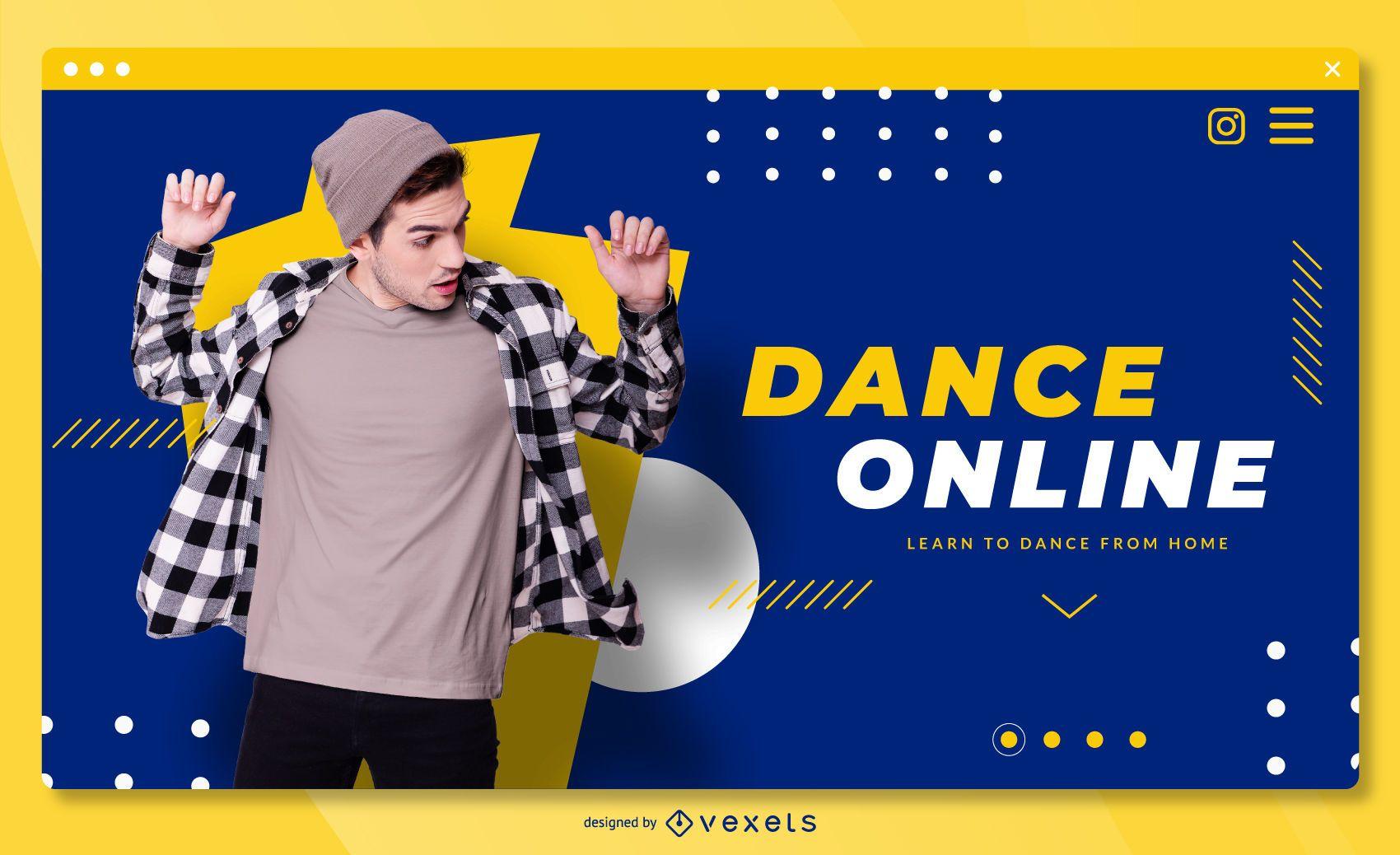 Dance online landing page template