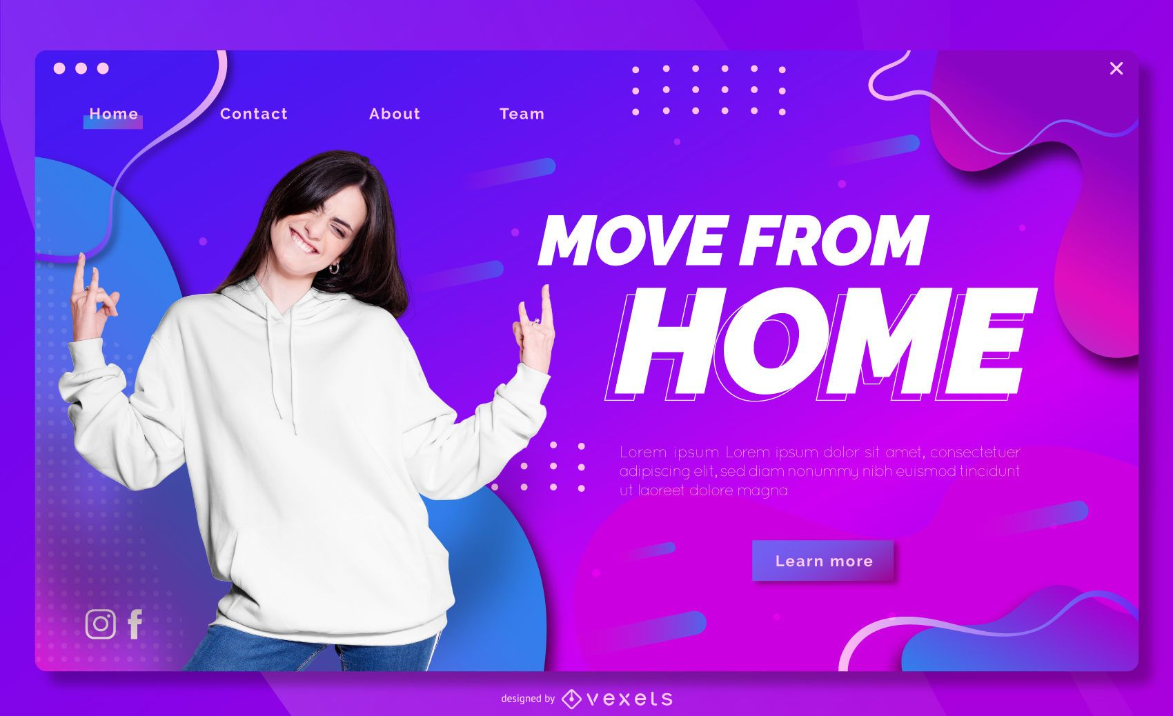 Move from home landing page template