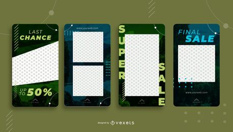 Social Media Sale Portrait Template Pack