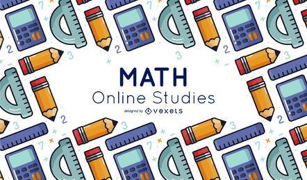 Cubierta de educación en línea de elementos de matemáticas