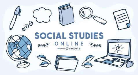 Portada de educación en línea de estudios sociales