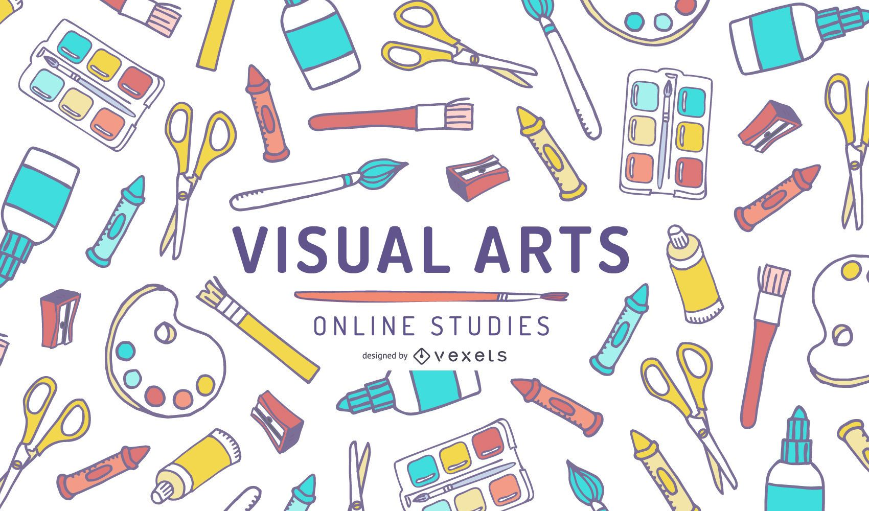 Visual Arts Online Studies Cover Design