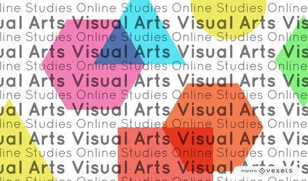 Portada de educación en línea de artes visuales