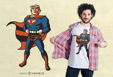 Design de camiseta super Trump