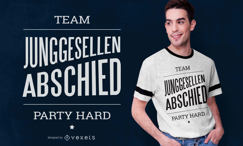 Dise?o de camiseta alemana de despedida de soltero