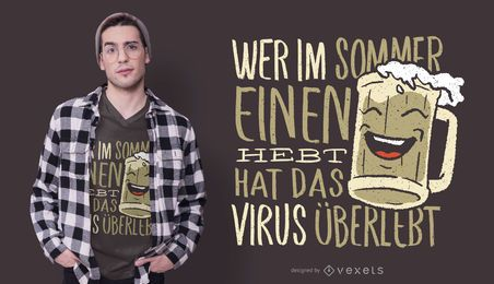 German Beer Quote T-shirt Design