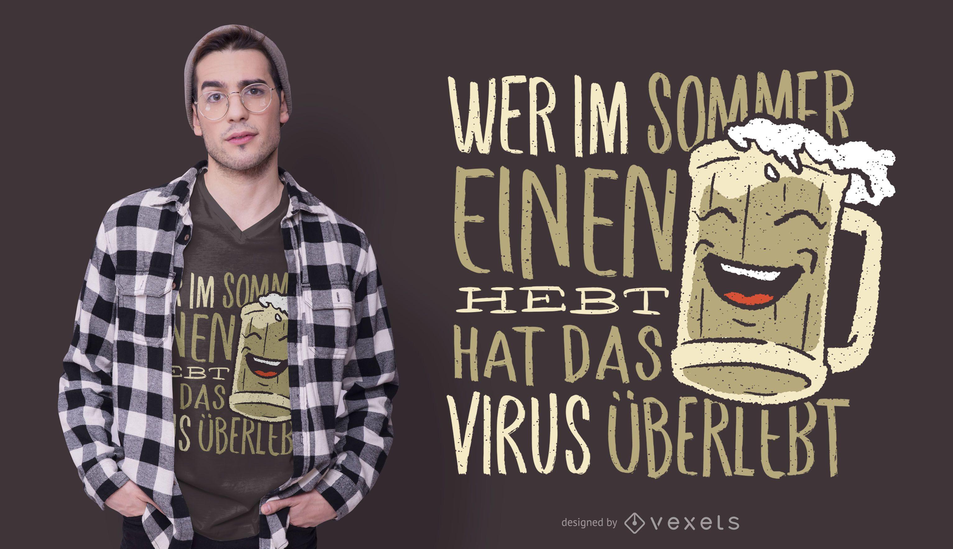 German Beer Quote T-shirt Design