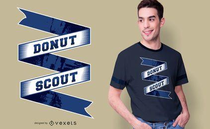 Diseño de camiseta Donut Scout Text