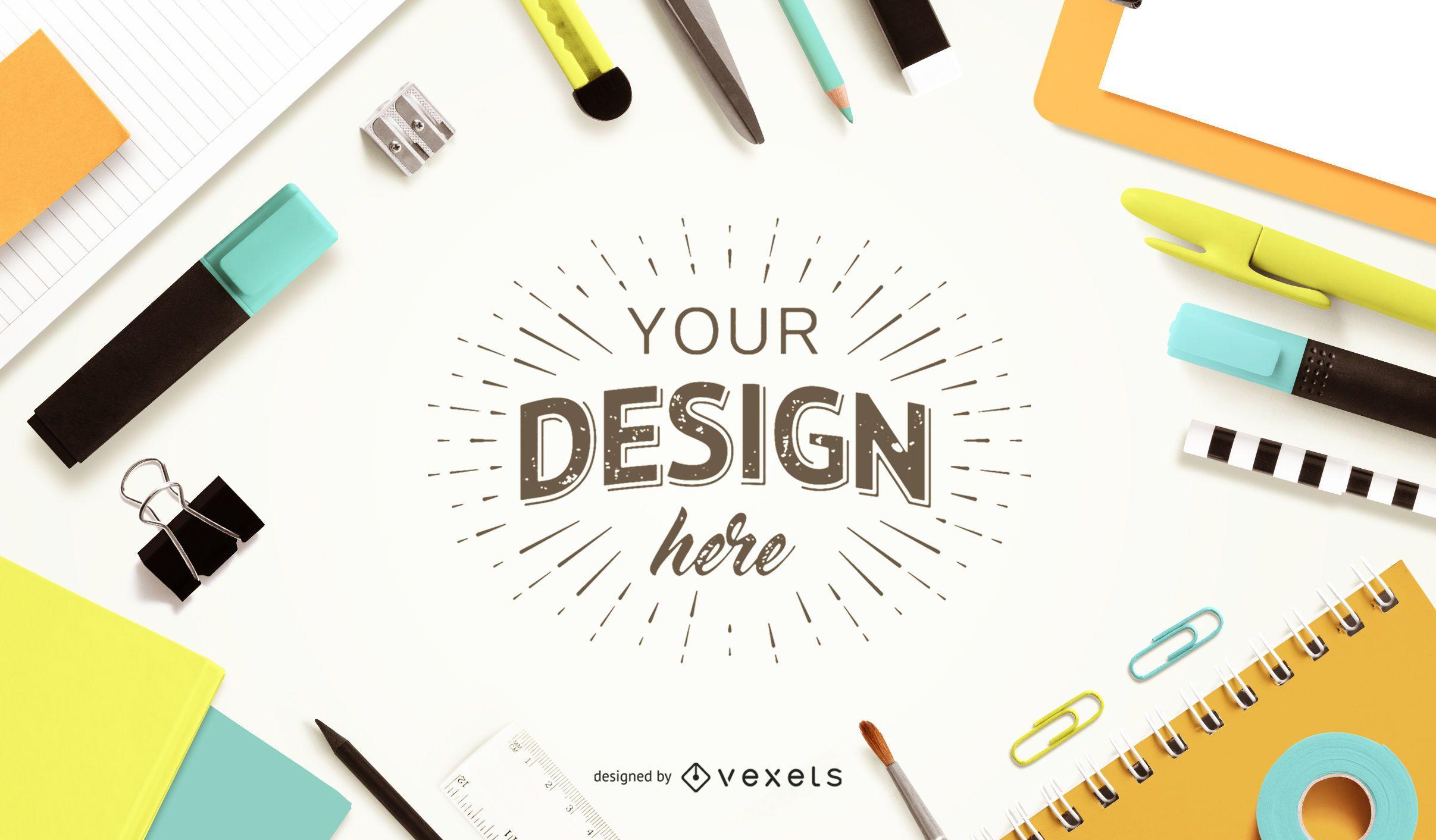 Education Composition Mockup Design