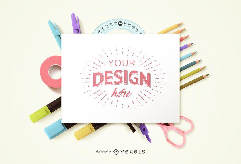 Education Craft Mockup Design