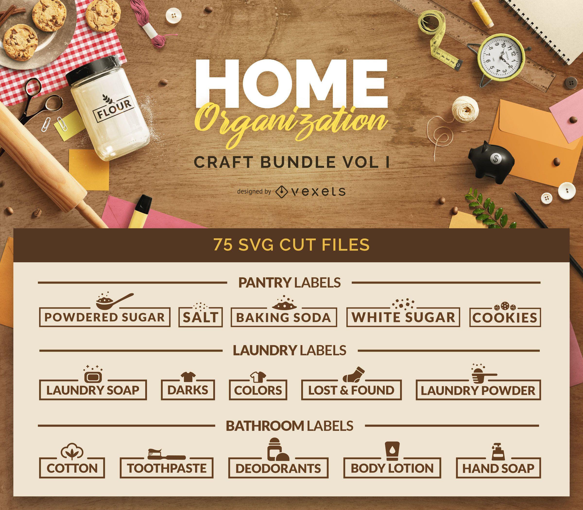 Paquete de manualidades de organización del hogar