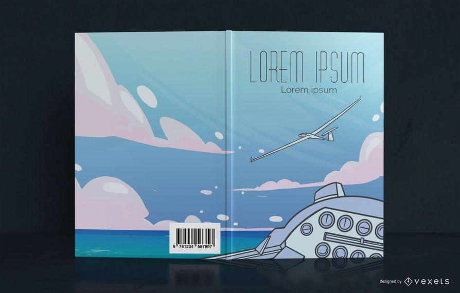 Glider Plane Book Cover Design