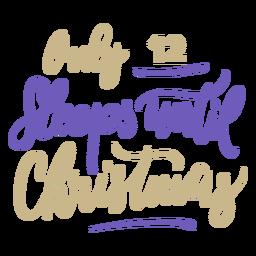 12 Schlaf Weihnachten Countdown