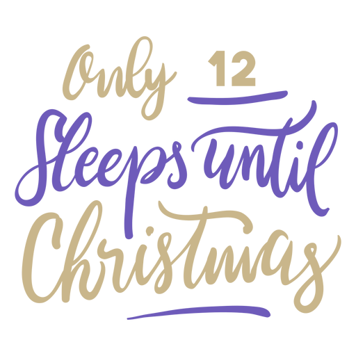 12 sleeps christmas countdown Transparent PNG