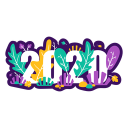 2020 colorful badge