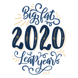 2020 leap year lettering