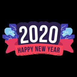 Insignia de año nuevo 2020