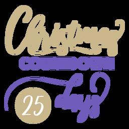 25 días de cuenta regresiva de navidad