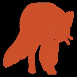 Acercándose a la silueta del zorro